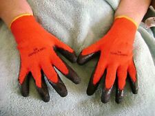 2 pair nitrile coated work gloves cut resistant gardening,builder,mechanic SIZEM