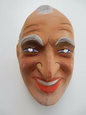 POST WW2 ERA  POLITICAL PRESSED CARD / PAPIER MACHE MASK    FRANCE  WHO IS IT ?