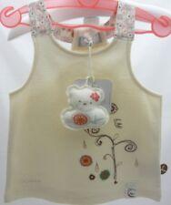 Kaloo tee-shirt à brides crème  motif brodé oiseau fleurs bébé fille 6 mois