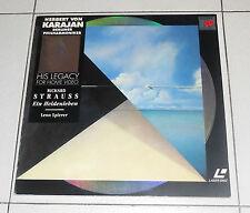 Laser Disc RICHARD STRAUSS Ein Heldenleben Op 40 HERBERT VON KARAJAN LD dvd