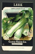 Leek, Large London Flag, Antique Seed Packet, Card Seed, Country Store, 085