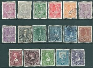 MONTENEGRO 1911-13 used stamp collection