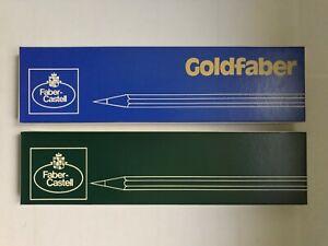 2x12 VINTAGE FABER-CASTELL PENCILS: DESSIN 2000/GOLDFABER 1221 - W. GERMANY,NOS