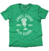 Angel Grove Might Morphin Power Rangers Shirt | Megazord Hulk V-Neck T Shirt