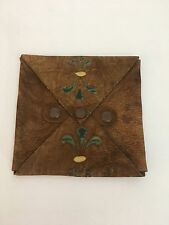 19th Century Mens Handkerchief Leather Case