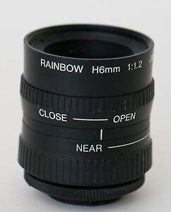 Rainbow H 6mm  F:1.2 CS Cmt. lens Pentax Q Q10 Q7 Q-S1 or Nikon 1 series