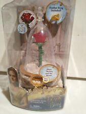 Disney Beauty & the Beast Belle Enchanted Rose Lighted Jewelry Music Box New Nib