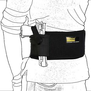 Slim Wrap Concealed Carry Belly Band Pistol Holster Band Gun Holster Max 44 Inch