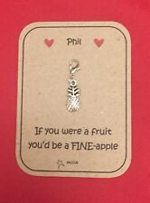 Anniversary Gift For Him Her Personalised Key ring Clip Charm Fine-apple Saccos