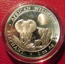2014 Somalian Elephant 1 Troy Oz. .999 Silver Coin - Somalia