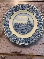 Vintage Delft Blue Handpainted Holland Decorative Plate