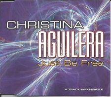 CHRISTINA AGUILERA Just Be Free REMIXES & LATIN UK CD Single SEALED USA seller