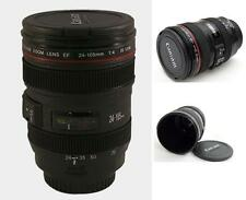NEW Camera Lens 12oz Cup EF 24-105mm Coffee Tea Travel Mug Thermos Stainless
