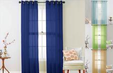 1Pc Elegance Voile Sheer Grommet Panel Window Dressing Curtain Treatment Ruby