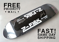 JAY ADAMS SIGNED DOGTOWN ZFLEX BLACK POOL AUTOGRAPHED ZFLEX SKATEBOARD DECK