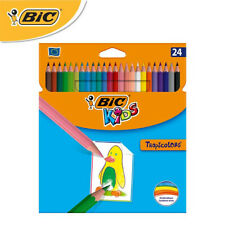 BIC Kids Colored Pencils Tropicolors Triangel Pack of 24 Assorted Color