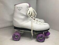 Women's Roller Derby Roller Star 550 Skates Shoes White Purple Size 8