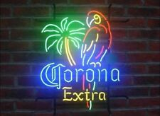 "New Corona Extra Parrot Bird Left Palm Tree Neon Light Sign 17""x14"""