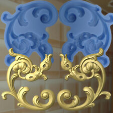 Gießformen Verzierung Silikonformen Gips Ornament Relief Deckenverzierung  (172)