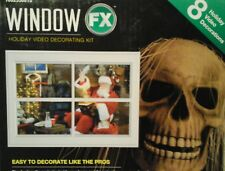 Window FX Projector Holiday Video Decorating Kit Christmas halloween New