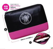 Japanese Magazine Appendix Faux Leather Bobbi Brown Pink Cosmetic Purse Bag Case