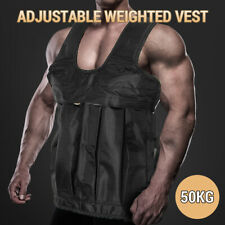 50KG Adjustable Workout Weight Weighted Vest Exercise Gym Training Fitness Sport