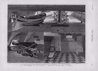 1876 - Antique Print NAVAL HMS Victory Nelson Anniversary Death Cannon (175)
