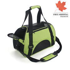 New Small Green Dog Cat Travel Carrier Outdoor Tote Comfort Pet Soft Side Bag