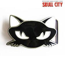 BLACK CAT BUCKLE - Gürtelschnalle - Kitty Katze Rockabella Tattoo Hello Pin Up