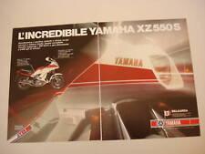 advertising Pubblicità 1983 MOTO YAMAHA XZ 550 S