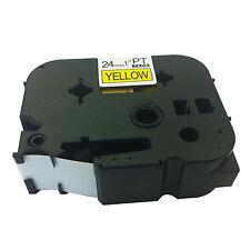Brother Compatible TZ651 P-Touch PT2400 PT2410 PT2430PC 24mm Black/Yellow Tape