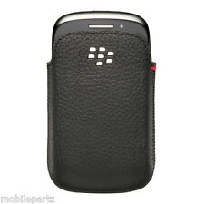 Genuine BlackBerry 9320 9310 9220 Black Leather Premium Pocket Pouch Case