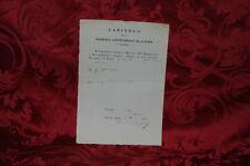 Antico Documento Capitolo della Basilica Cattedrale di Parma 1870 - Offerta