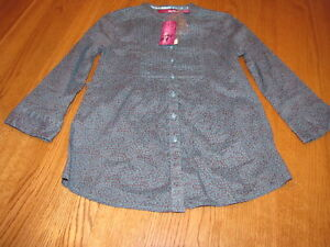 Girls Epic Threads L/S long sleeve medium MD shirt Atlantic Teal M NWT 32.0^^