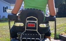 "MOTORCYCLE PASSENGER REAR SEAT ARMREST SPORT CRUISER - Standard 15"" Width"