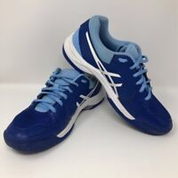 ASICS Womens Gel Dedicate 5 Tennis Shoes Blue White E757Y Low Top Lace Up 7 M