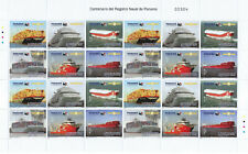 NEW 2019 PANAMA STAMPS VESSEL TANKER MARITIME SHIP COMPLETE PAGE - 4 BLOCKS -MNH