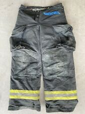 Firefighter Janesville Lion Apparel Turnout Bunker Pants 38x34 BLACK 2004