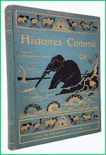 Libro antico illustrato per bambini RUDYARD KIPLING: HISTOIRES COMME CA racconti