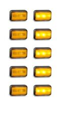TRAILER SIDE DIRECTION  MARKER 10 X AMBER MULTI VOLT 58 SERIES LED AUTOLAMPS