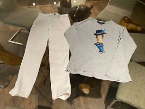 $100 ARIAT / NATURAL COTTON BREECHES EQUESTRIAN DOVER SADDLERY TOP PANTS SET 14