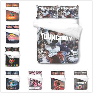 Youngboy music 3D Bedding Set 2/3PCS Duvet Cover Pillowcase 4 Sizes UK2H.