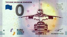 Null Euro Schein - 0 Euro Schein - Technik Museum Sinsheim Concorde Mercedes