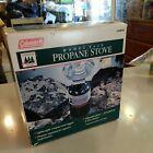 Coleman Propane Stove UltraLight Gear Model 5438B700 Made USA 1993 Old School