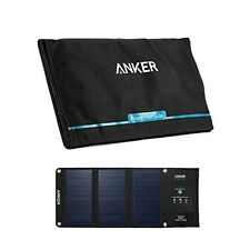 Anker Portable Solar Charger 21W 2-port USB Charger iPhone 6 Galaxy From Japan