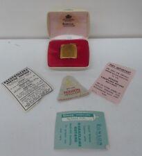 VINTAGE GOLD RONSON VARAFLAME BOXED ORIGINAL CASE 1960s PAPERWORK BROCHURES