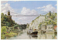 Clifton Bridge R. Avon Bristol S R Badmin ready mounted vintage print