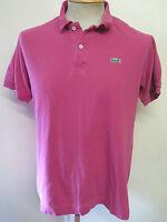"""Genuine Vintage Lacoste men's Magenta Polo Shirt Size 36-38"""" S Euro 46-48"""