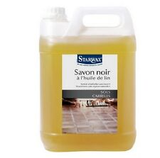 SAVON NOIR A L' HUILE DE LIN 5L STARWAX  5151 nettoyant sol