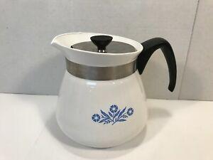 Vintage Corning Ware Blue Cornflower 2 Qt Tea Pot Kettle